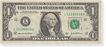 1 Dollar Note