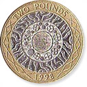 2 Pound Sterling Coin